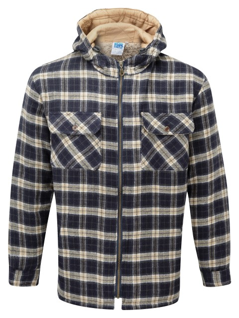 125 Penarth Hooded Check Jacket 2 DK RETOUCHED Small